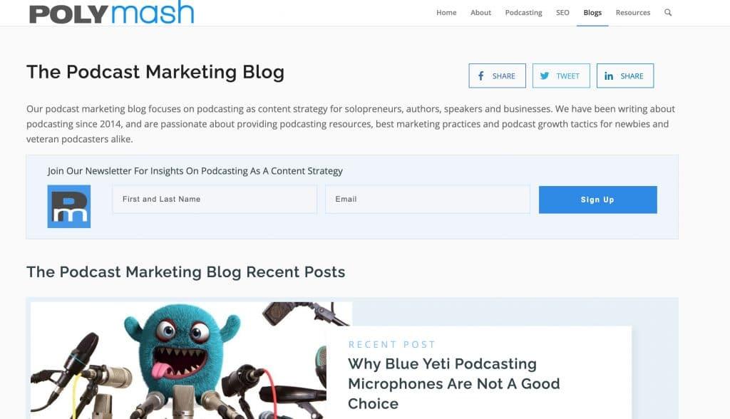 Polymash podcast marketing blog