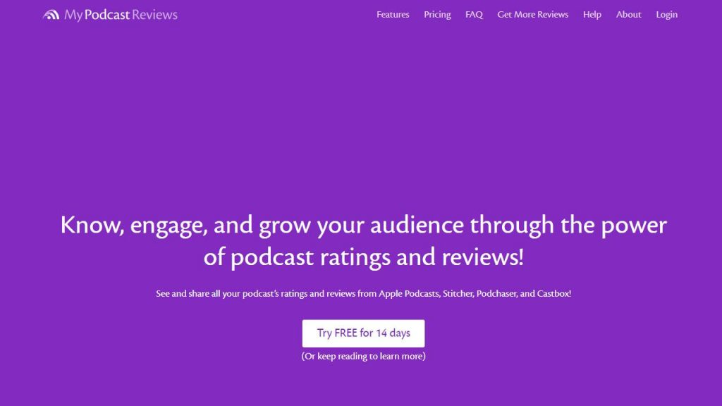 Podcast review tracker