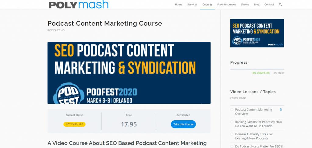 Polymash Podcast Marketing Course