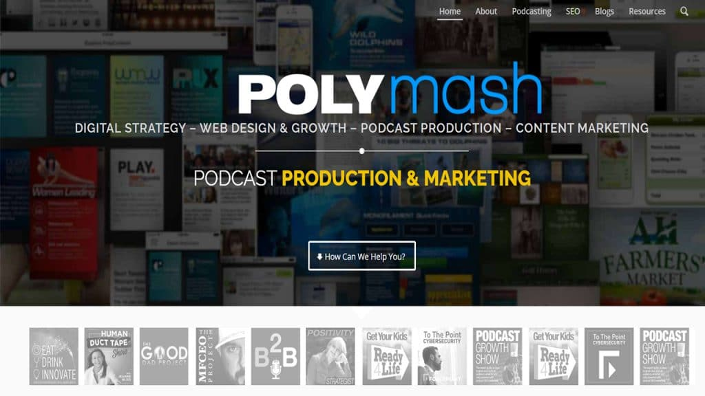 Upside down podcast homepage