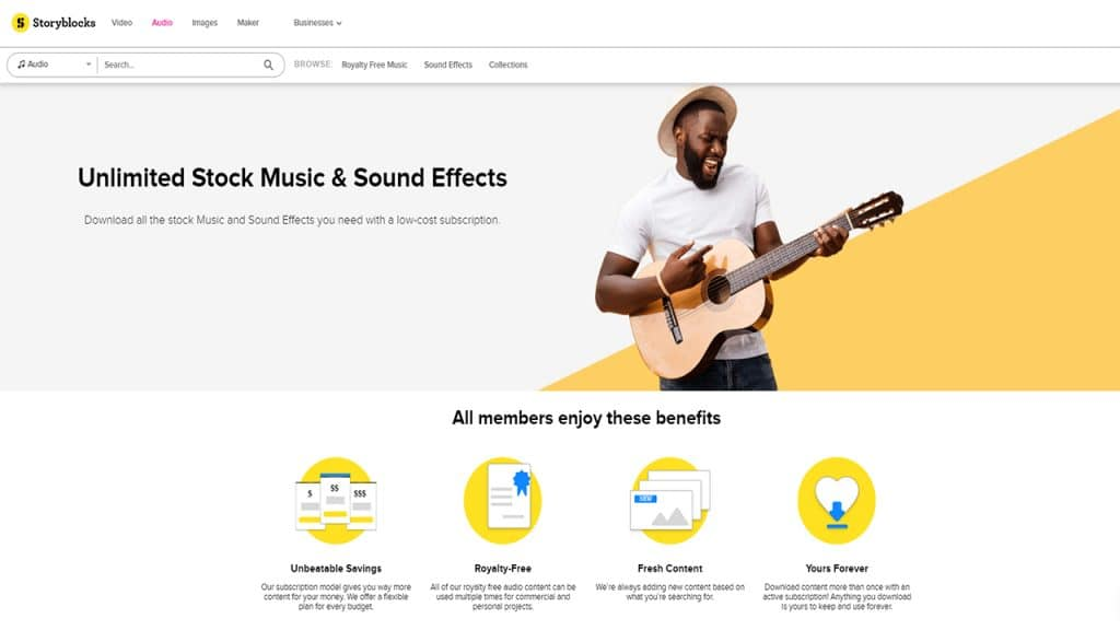 stock music and audio effects library