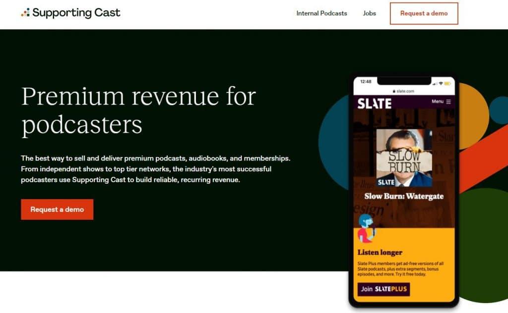 Monetiziation with premium content