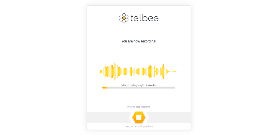 voice recording for your audience