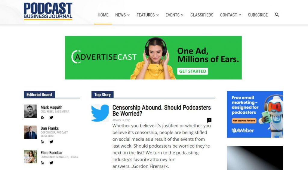 News and Articles about podcasting