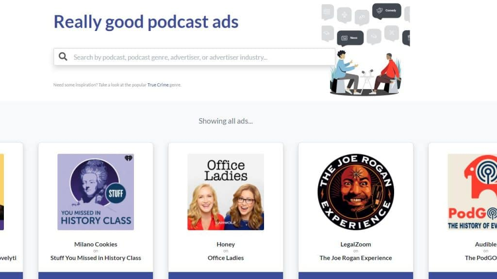 Podcast ad reference