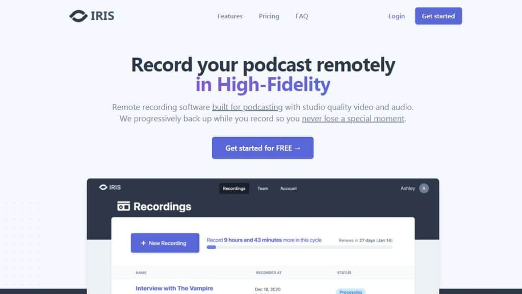Web based audio and video recording tool