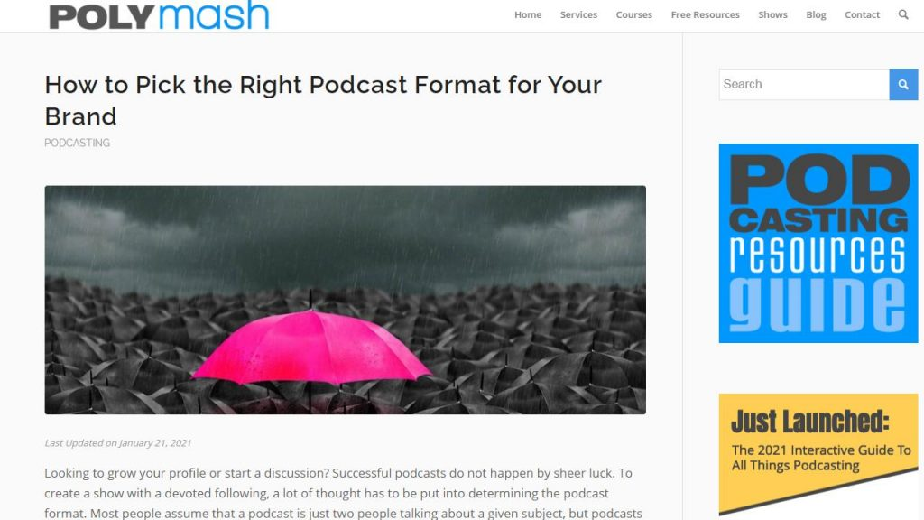 Polymash Podcasting Article