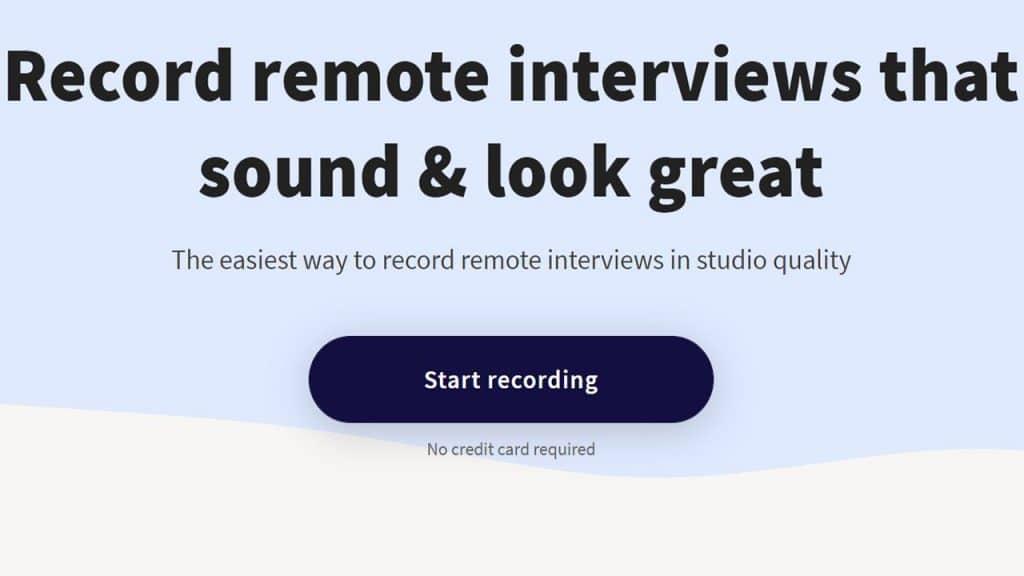Remote recording software