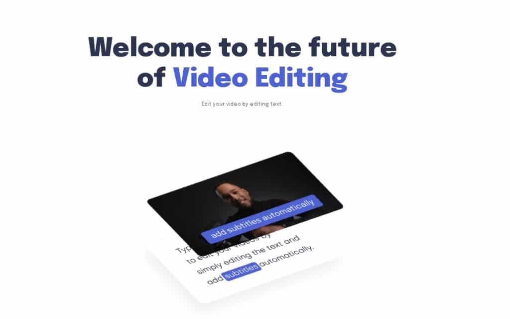 Text-Based Video Editing Tool