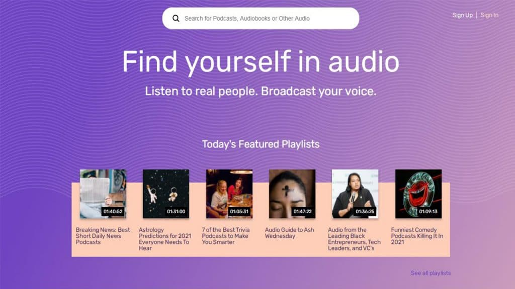 Podcast Directory and audio streaming platform